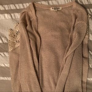 Cream Cardigan with Lace Detail